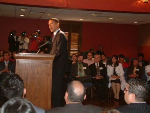 Barack Obama speaks toPastors